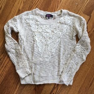 Lacey knit sweater!